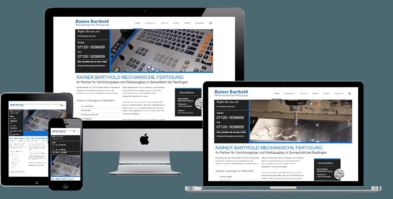 Website für Vorrichtungsbau Barthold