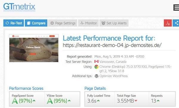 WordPress Pagespeed optimierung 4